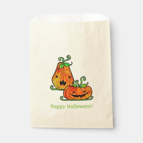 Funny Pumpkins Halloween Favor Treat Bags