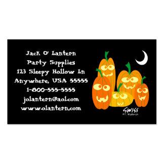 Funny Pumpkins Halloween Profile Card Business Card Template