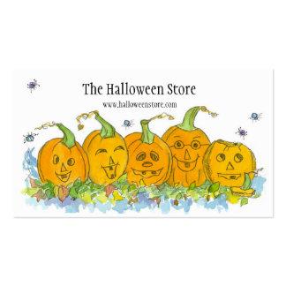Funny Pumpkins Halloween Spiders Art Business Card
