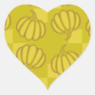 Funny pumpkins heart sticker