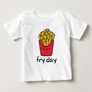 Funny pun Friday happy french fries cartoon Baby T-Shirt