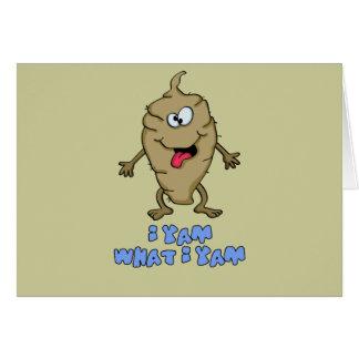 Funny Pun - I Yam What I Yam Cards