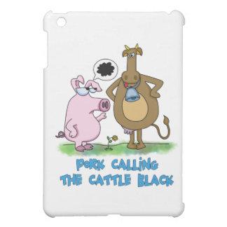 Funny Pun - Pork Calling The Cle Black iPad Mini Case