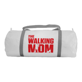 Funny pun the walking mom jokes for halloween duffle bag