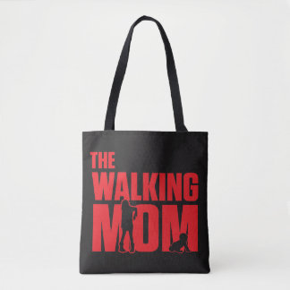 Funny pun the walking mom jokes for halloween tote bag
