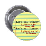 Funny Punctuation Grammar 2 Pinback Buttons