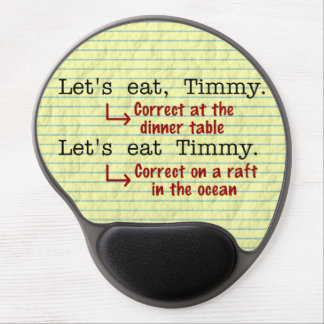 Funny Punctuation Grammar Gel Mouse Pad