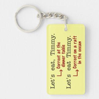 Funny Punctuation Grammar Keychain
