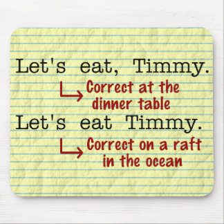 Funny Punctuation Grammar Mouse Pad