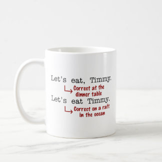 Funny Punctuation Grammar Classic White Coffee Mug