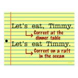 Funny Punctuation Grammar Postcards