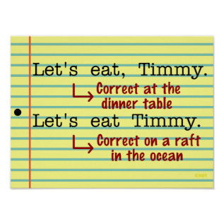 Funny Punctuation Grammar Poster at Zazzle
