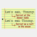 Funny Punctuation Grammar Rectangular Sticker