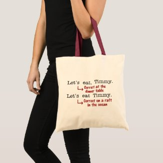 Funny Punctuation Grammar Tote Bag