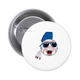 Funny Punk Baseball 2 Inch Round Button