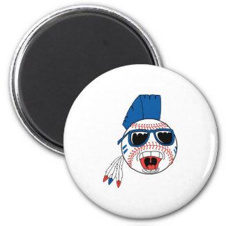 Funny Punk Baseball 2 Inch Round Magnet