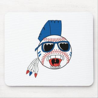 Funny Punk Baseball Mouse Pad