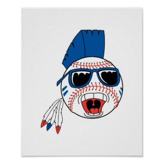Funny Punk Baseball Poster