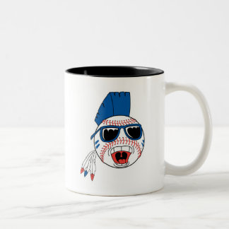 Funny Punk Baseball Two-Tone Coffee Mug