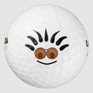 funny punk face golf balls