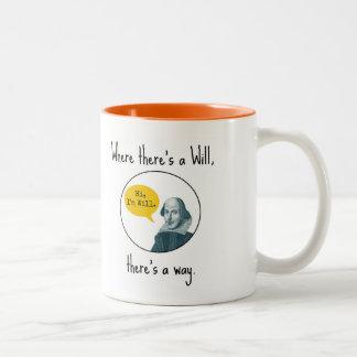 Funny Punny Motivational William Shakespeare Mug