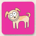 Funny puppy dog animal cartoon coaster