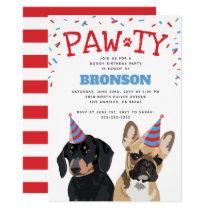 Funny Puppy Dog Birthday Party Invitation