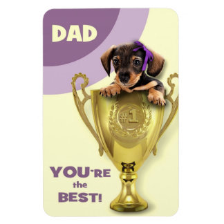 Funny Puppy Father's Day Gift Magnets