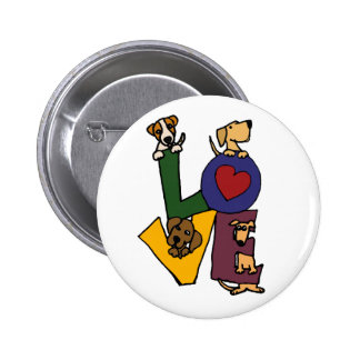 Funny Puppy Love Art Pin