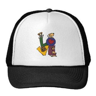 Funny Puppy Love Art Trucker Hat