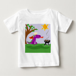 Funny Purple Dragon Grill Master Baby T-Shirt