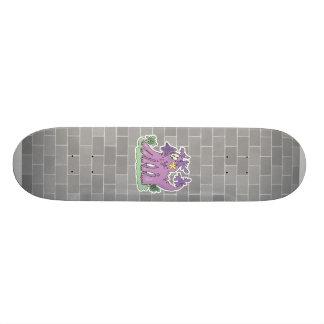 funny purple monster skateboard decks