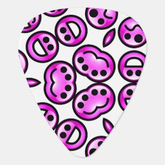 Funny Purple Pain Emoticons Guitar Pick