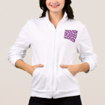 Funny Purple Pain Emoticons Jacket