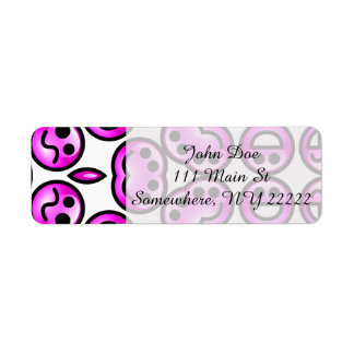 Funny Purple Pain Emoticons Label