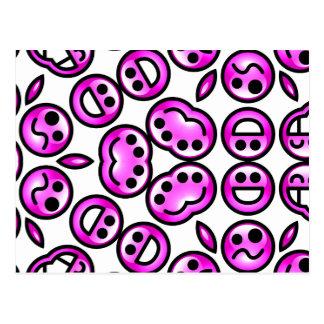 Funny Purple Pain Emoticons Postcard
