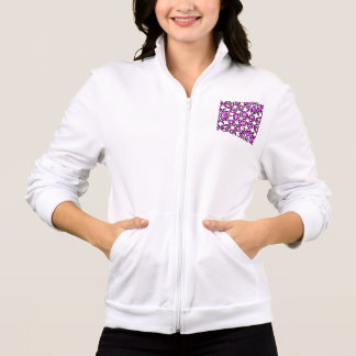 Funny Purple Pain Emoticons Printed Jacket