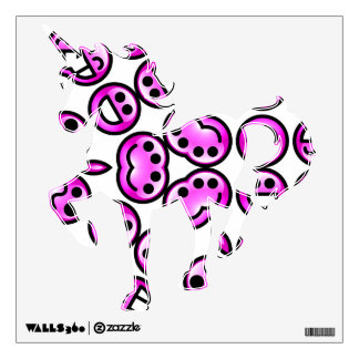 Funny Purple Pain Emoticons Wall Skins