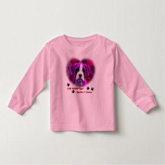 Funny Purple Puppy Dog & Paw Prints Kids Shirt