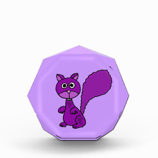 Funny Purple Squirrel Cartoon Award