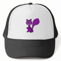 Funny Purple Squirrel Cartoon Trucker Hat