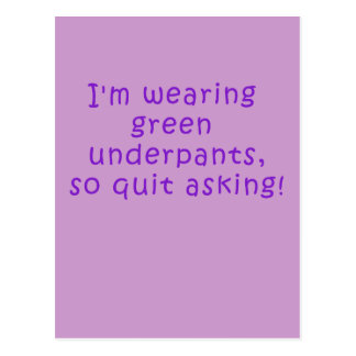 Funny Purple St. Patrick's Day t shirt Postcard
