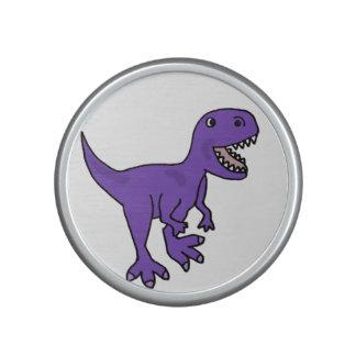 Funny Purple T-Rex Dinosaur Cartoon Speaker