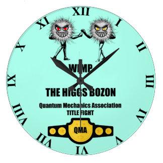 Funny Quantum Mechanics WIMP vs The Higgs Bozon Large Clock