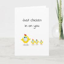 funny quarantine social distance chicken/hens pun card