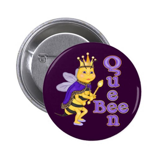 Funny Queen Bee 2 Inch Round Button