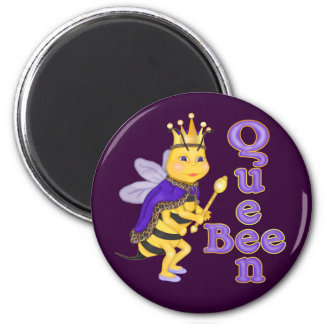 Funny Queen Bee 2 Inch Round Magnet