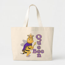 Funny Queen Bee Large Tote Bag