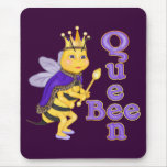 Funny Queen Bee Mouse Pad