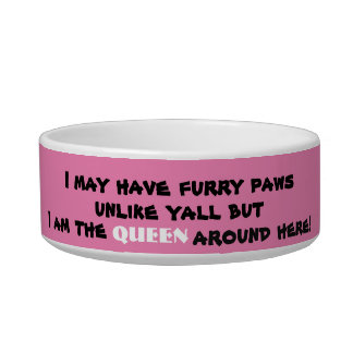 Funny Queen Female Pink Pet Bowl